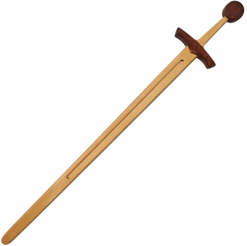 Drachenschwert mit Holzh/ülle ca. 58 cm lang, Material: Fichte mit Baumwollumwicklung Verschiedene Varianten Erlebnis Mittelalter Schwert aus Holz
