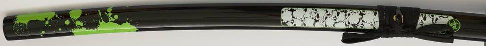 Anti Zombie Katana kaufen- Samurai Schwert Z-Hunter mit grünem Blut