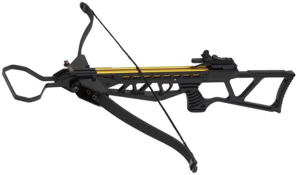 Armbrustgewehr + einklappbarem Fiberglasbogen + 150 lbs