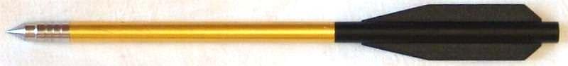 Armbrustpfeil kaufen Leichtmetall Gold Schwarz