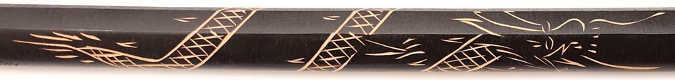 Bokken schwarz Der Drache aus Holz Bestellen schnitzerei