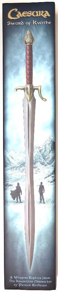 Caesurs Schwert von Kvothe aus Die Königsmörder Chronik Verpackung