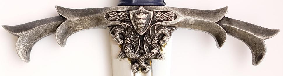 Das Schwert Excalibur + Kampfschwert + scharf Parierstange