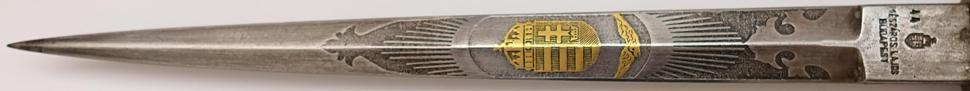 original Ungarische Luftwaffe Dolch für Offiziere 1941 klinge im detail