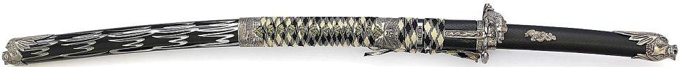 doppel Drachenkopf Schwarz Samurai Schwert- Katana kaufen