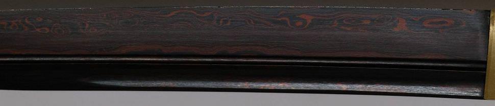 Drachen Samurai Schwert- Katana + Gefaltet- damast red black