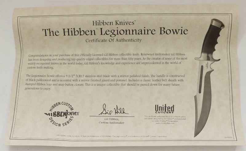 Expendables 2 Messer kaufen vom Legionär von Gil Hibben Legionnaire Bowie