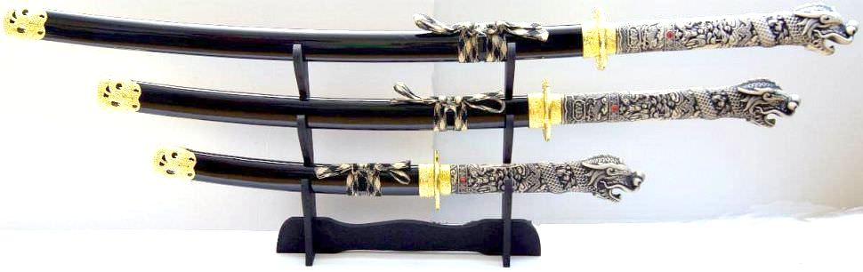Highlander Schwert kaufen Connor MacLeod schwarz, Schwerter Set