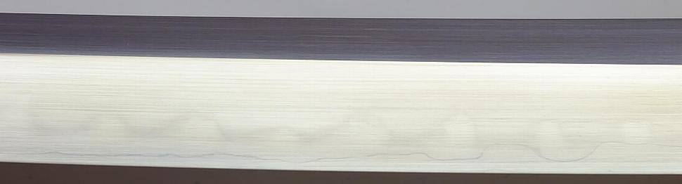 Katana- Samurai Schwert mit Gomai Klingenaufbau echtes Ninko detail