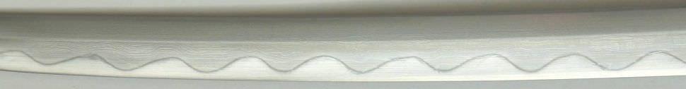 Katana- Samuraischwert + Kobuse + gefaltet- Damast + Hamon + Braun Akeno