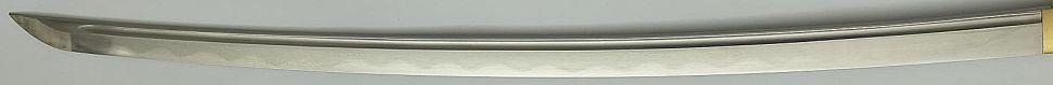 Katana- Samuraischwert in Shirasaya Schwarz Ninken + echte Hamon + Gefaltet kaufen