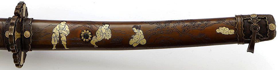 katana samurai schwert damast gefaltet ayahito figuren. Black Bedroom Furniture Sets. Home Design Ideas