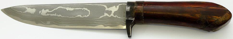 Saji Hocho Kirschrinde Japan Jagd Outdoor Damast Messer kaufen mit gefalteter Klinge