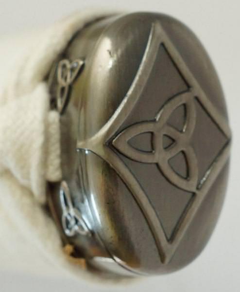 Michonne Samurai Schwert Katana kaufen mit Damast Klinge aus der Serie The Walking Dead