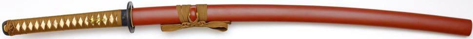 Miyamoto Musashi Katana- Samurai Schwert mit Brauner Saya