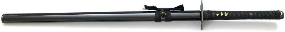 inja schwert Damast kaufen Gefaltetes Ninja Schwert Rot Schwarze Klinge