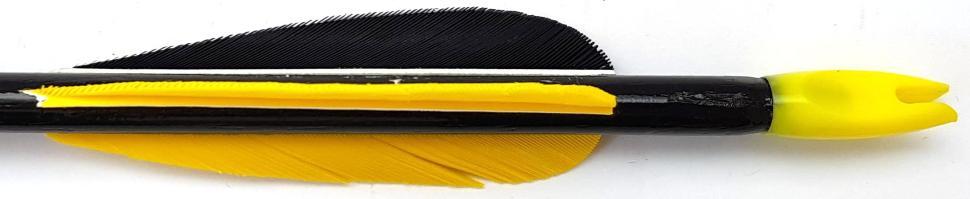 Pfeil Schwarz kaufen 72 cm aus Zedernholz Federn