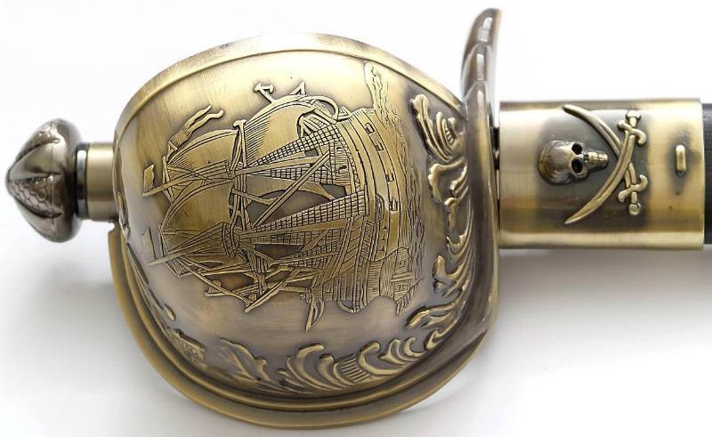 Piratenschwert französisch goldfarben Griff