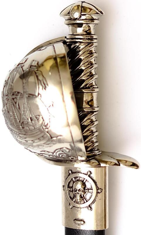 Piraten Schwert- Säbel kaufen mit Schiffsabbildung am Korb Griff