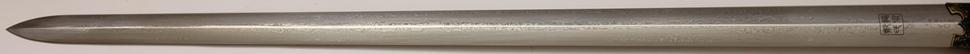 Qi Jian Tai Chi Schwert aus Damast kaufen die Klinge