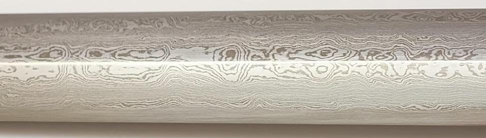 Qi Jian Tai Chi Schwert aus Damast kaufen Klinge im Detail