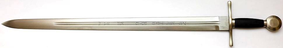 River Witham Schwert 1250-1300 nChr. + scharf + kampfschwert