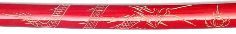 rote Samurai Schwerter Drachen Katana 3er Set kaufen