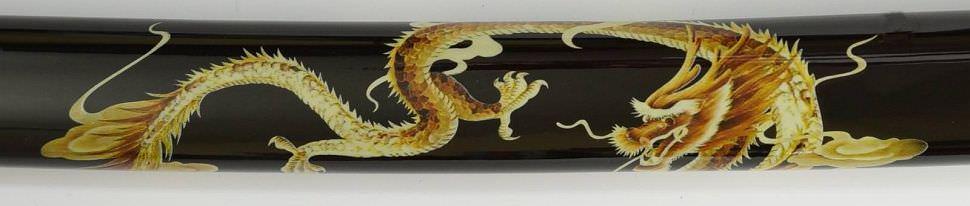 Samurai Schwert- Katana + goldener Drache auf Saya kaufen