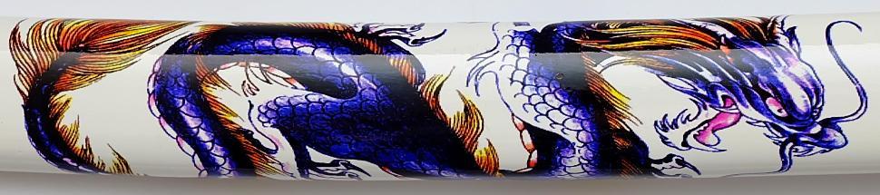 Samurai Schwert- Katana Blauer Drache scheide