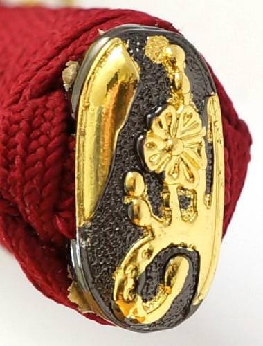 Samurai Schwert- Katana Burgunderrot Damast- gefaltet Tenno Itoku kaufen