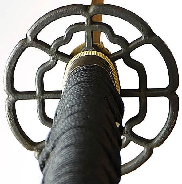 Samuraischwert- Katana Damast- gefaltet Red Black kaufen