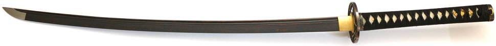 Samurai Schwert- Katana kaufen Seinei + gefaltet- Damast red black
