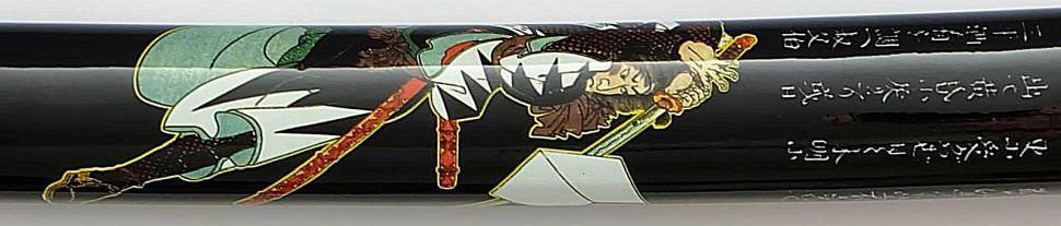 Samurai Schwert- Katana Kofun + Samurai auf Saya