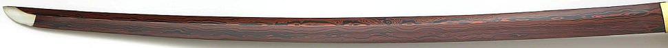 Samurai Schwert- Katana Phoenix + Gefaltet- damast, red black
