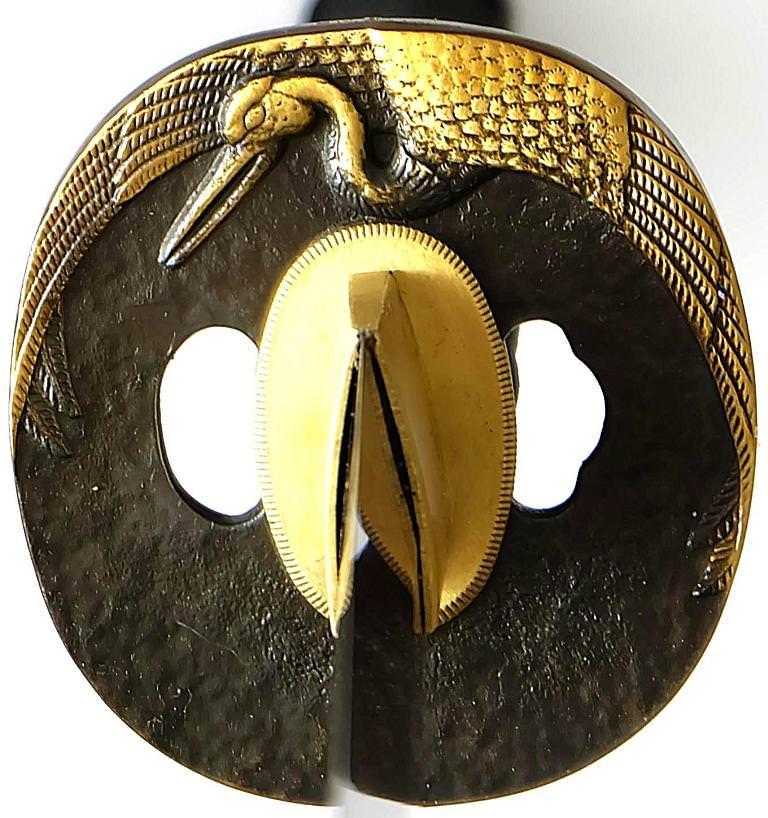 Katana- Samurai Schwert Phoenix + Gefaltet- damast