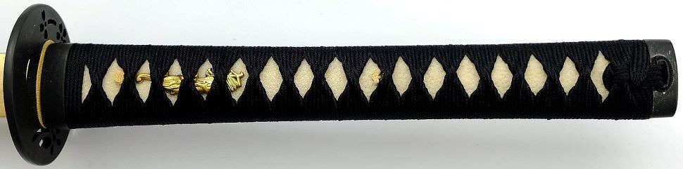 Samurai Schwert Gefaltet- damast rot schwarz kaufen