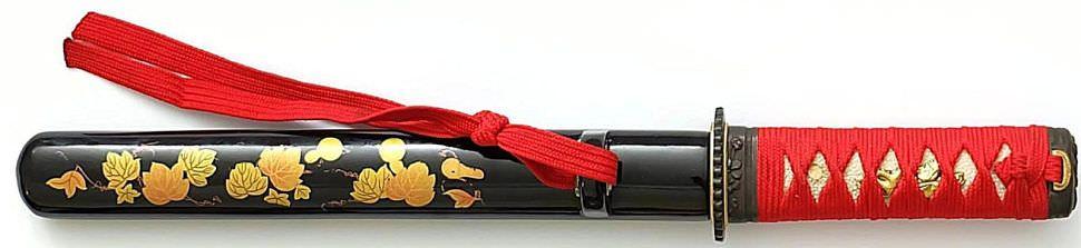Samurai Tanto Shotoku rot und schwarz kaufen