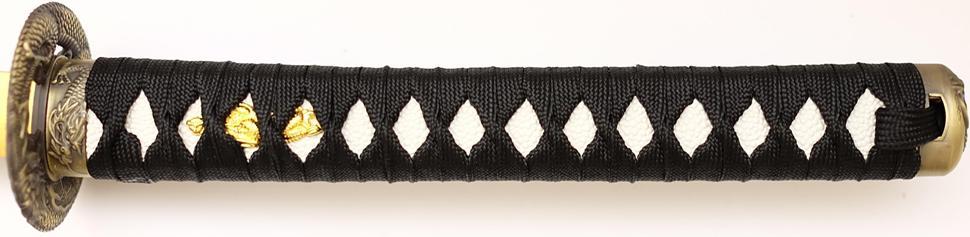 Samuraischwert Drache Weiß Schwarz Der Griff