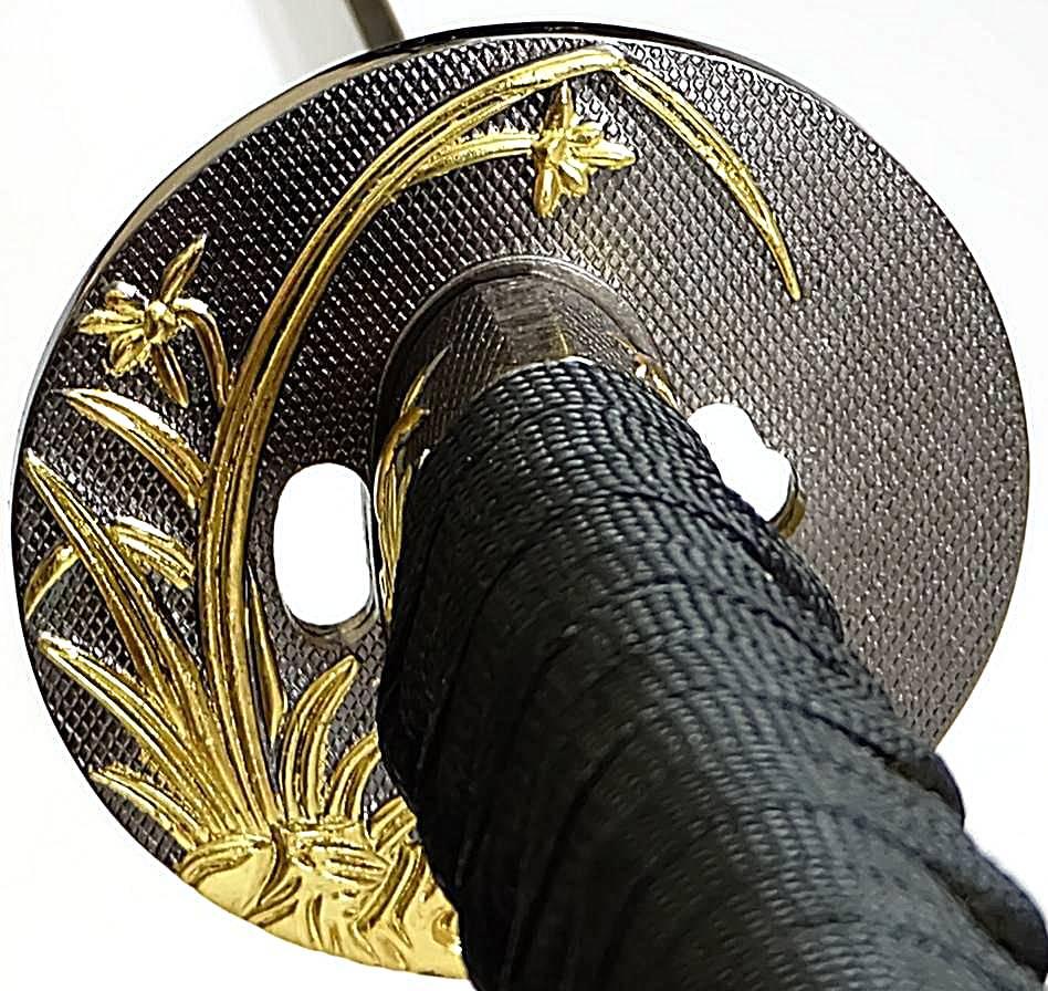 Samuraischwerter kaufen Lotus Katanaset schwarz