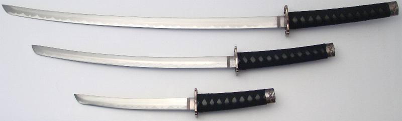 schwarze Samurai Schwerter- Drachen Katana im 3er Set kaufen