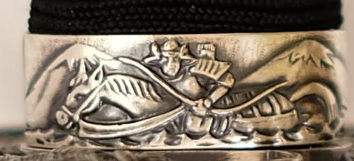 Schwarzes Katana Samuraischwert von Marto detail