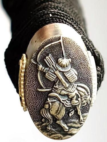 Schwarzes Katana Samuraischwert von Marto Knauf