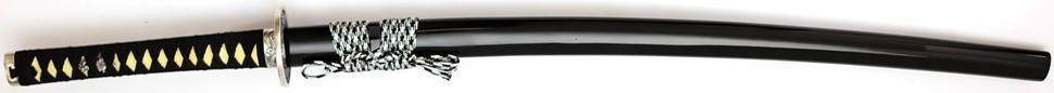 Schwarzes Katana Samuraischwert von Marto