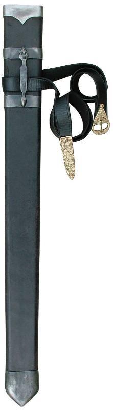 Schwertscheide kaufen aus Holz mit Lederbezug