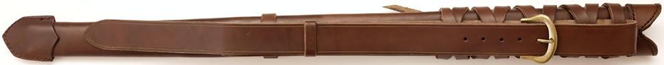 Schwertscheide kaufen für Rücken Schwertgehänge aus Leder rückseite
