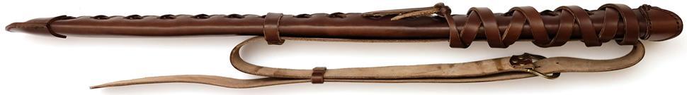 Schwertscheide kaufen für Rücken Schwertgehänge aus Leder seitlich