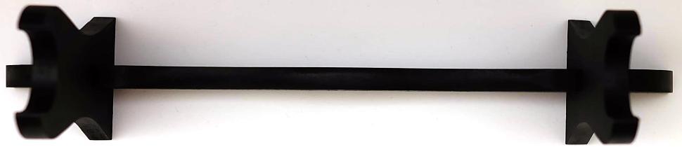 Schwertständer für 1 Schwert mit goldfarbenen Schriftzeichen von oben
