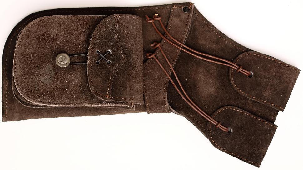 Seiten Holsterköcher für Pfeile aus Wildleder Rechtshänder kaufen für Bogenschützen