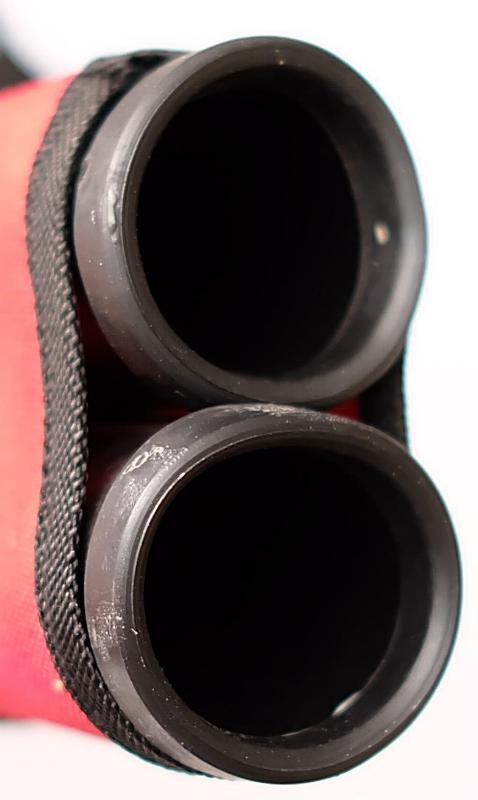 Seitenköcher Rot mit Gürtelclip für Pfeile von Berpaw öffnung