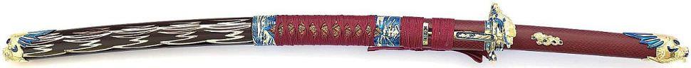 Serie Arrow Schwert kaufen von Tatsu Yamashiro Doppel Drachenkopf Rot Samurai Katana